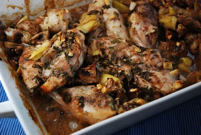Roasted Artichoke and Mushroom Chicken Recipe – 5 Points ...