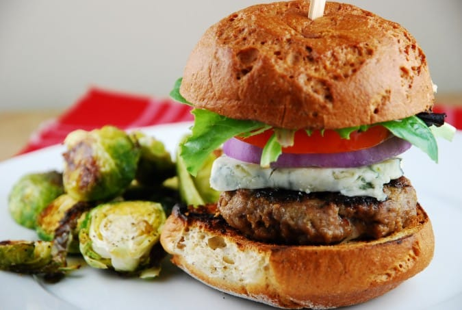 Blue Cheese Burger Recipe - 9 Points + - LaaLoosh