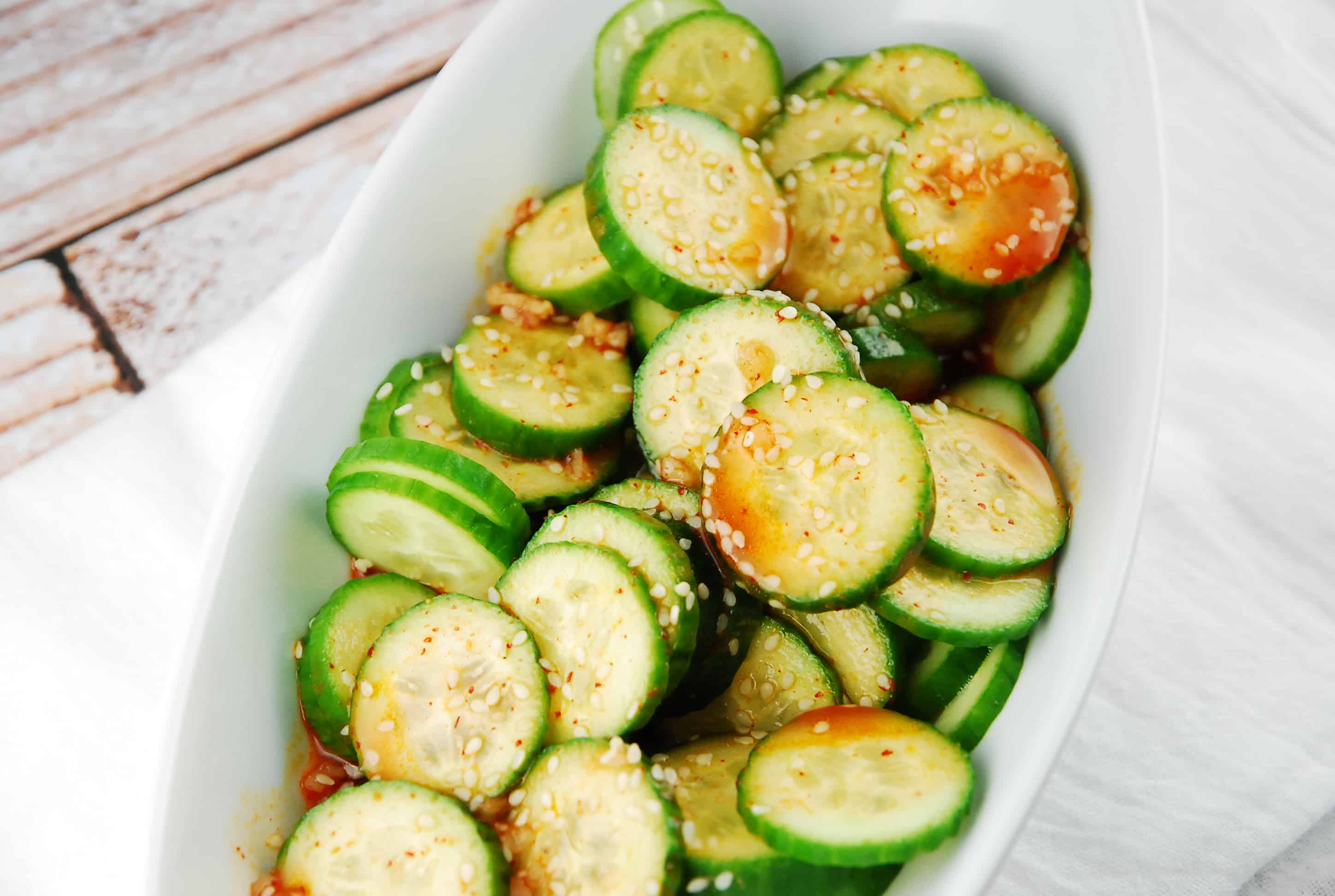 Spicy Cucumber Salad Recipe - 1 Points + - LaaLoosh